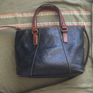 Vintage Fossil leather bag satchel